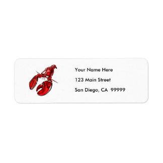 Pen & Ink Lobster Sketch Return Address Label