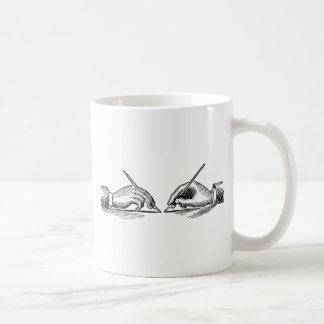 Pen Is Mightier Than the Sword Writer's Hands Coffee Mug