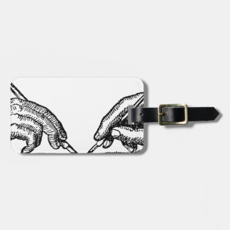 Pen Is Mightier Than the Sword Writer's Hands Luggage Tag