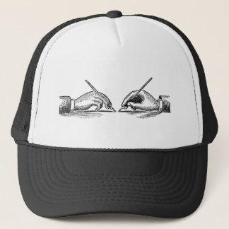 Pen Is Mightier Than the Sword Writer's Hands Trucker Hat