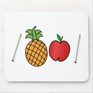 pen pineapple apple pen mouse pad