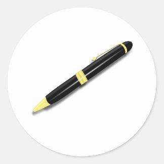 Pen Round Sticker