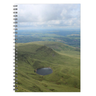 Pen y fan and Corn Du (Picture 2) Spiral Notebook