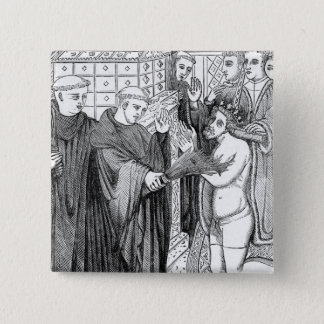 Penance of Henry II 15 Cm Square Badge