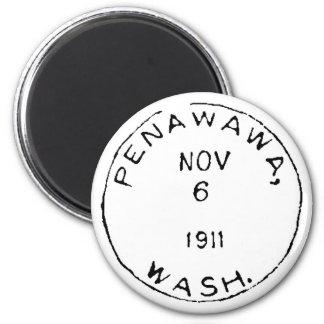 Penawawa Ghostmark 6 Cm Round Magnet