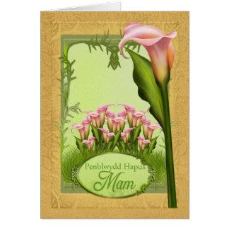Penblwydd Hapus Mam - Happy Birthday Mam In Welsh Card