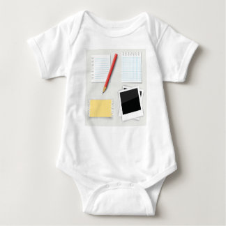 pencil and paper baby bodysuit