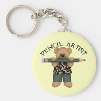 Pencil Artist Basic Round Button Key Ring