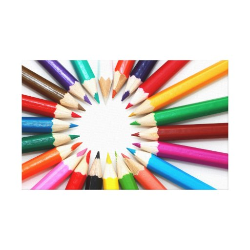 Pencil Colors Artistic Wrapped Canvas Gallery Wrap Canvas