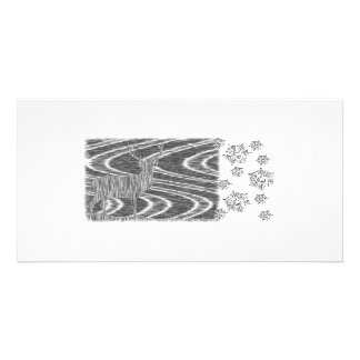 Pencil deer frozen brooks personalised photo card