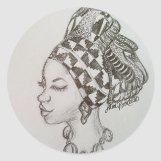 Pencil Drawing Head Wrap Sticker