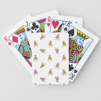 Pencil Drawing Scarecrows Pattern Design Bicycle Playing Cards