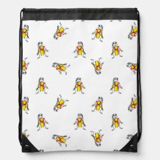 Pencil Drawing Scarecrows Pattern Design Drawstring Bag