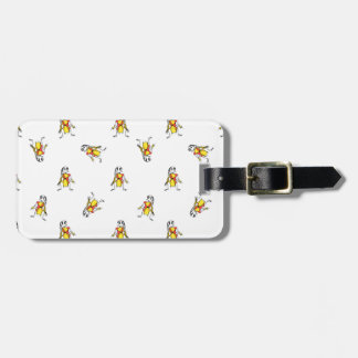 Pencil Drawing Scarecrows Pattern Design Luggage Tag