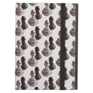 Pencil Drawn Pawns Pattern Chess Cover For iPad Air