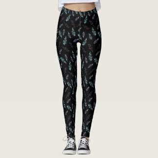 Pencil Feathers Leggings