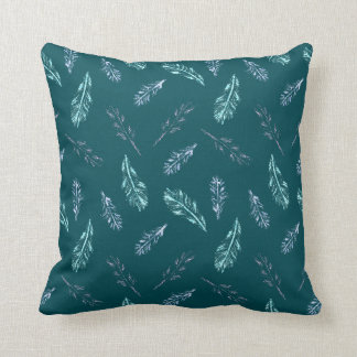 Pencil Feathers Polyester Throw Pillow 16'' x 16''
