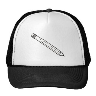 Pencil - fun simple line drawing symbol logo art cap