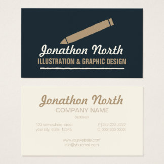 Pencil Graphic Design ID299 Business Card