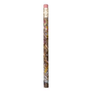 Pencil- Natural Earthtones Beads Print Pencil