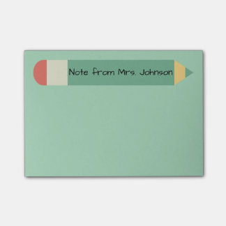 Pencil Note Green Post-it® Notes