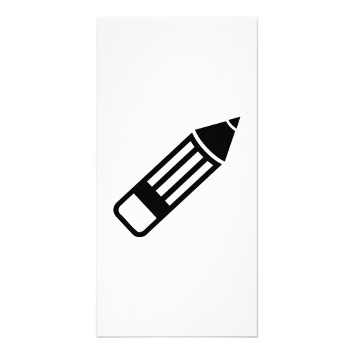 Pencil pen photo greeting card