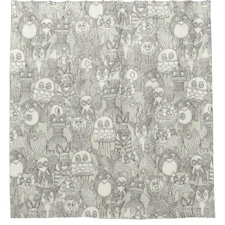 pencil pinatas ivory shower curtain