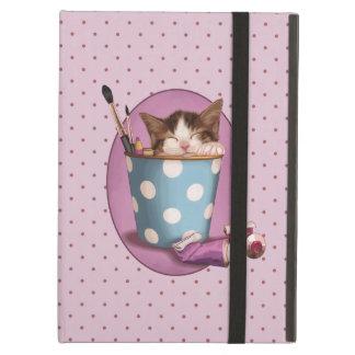 Pencil Pot Kitten Case For iPad Air