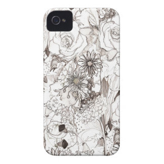 Pencil Sketched Blooms iPhone Case