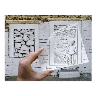 Pencil Vs Camera - Child Dreaming Postcard