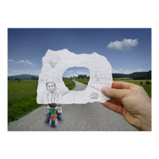Pencil Vs Camera - Child Playing Poster