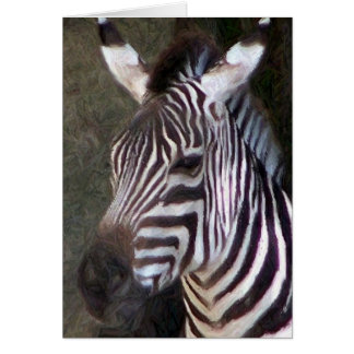 pencil zebra greeting card