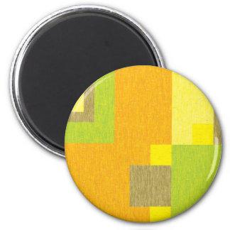 Pencilled Blocks 6 Cm Round Magnet