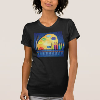 Pencils And Paintbrush Womens T-Shirt