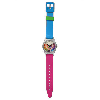 Pencils colors in range wrist watches