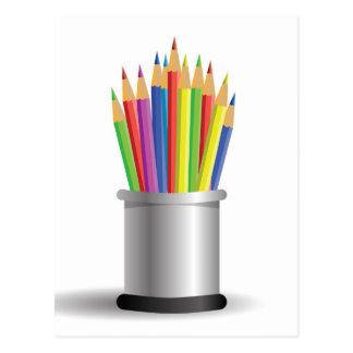 pencils postcard