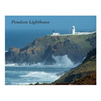 Pendeen Lighthouse Cornwall England Photo Postcard