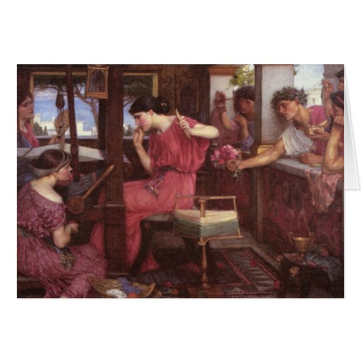 Penelope And The Suitors - John William Waterhouse Cards