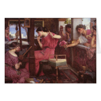 Penelope And The Suitors - John William Waterhouse Greeting Card