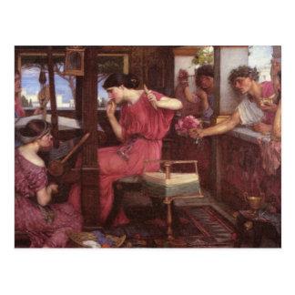 Penelope And The Suitors - John William Waterhouse Postcard