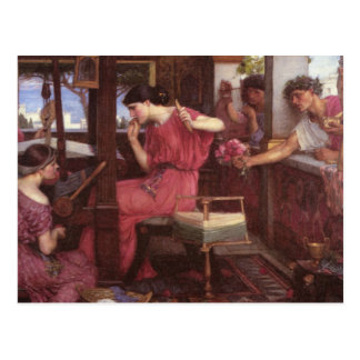 Penelope and the Suitors Postcard