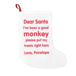 Penelope Good Monkey Christmas Stocking