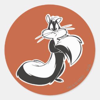 Penelope Grabbing Tail Classic Round Sticker