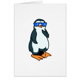 Penelope Penguin Greeting Card