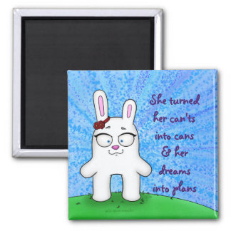 Penelope the Bunny, magnet w/quote