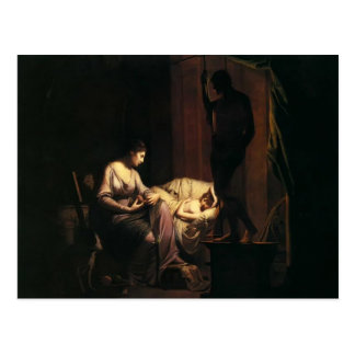 Penelope Unravelling her Web  by Joseph Wright Postcard