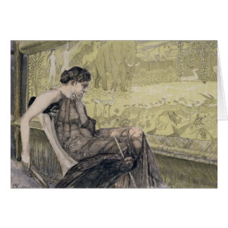 Penelope weaving a shroud for Laertes her father-i Greeting Card