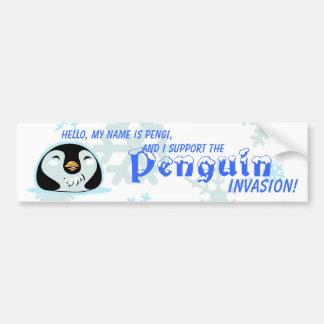 Pengi's Penguin Invasion Bumper Sticker