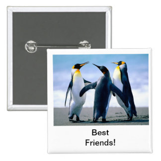 penguin 15 cm square badge