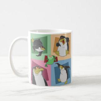 Penguin 4 Squares Mug